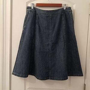 LL Bean Jean Skirt